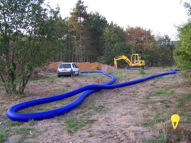 Photos de la pose de mon puits canadien auto - Tuyau pour puit canadien ...