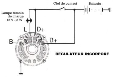 T1217 Mecanique Branchement Alternateur Avec Regulateur Interne on vw golf wiring diagram