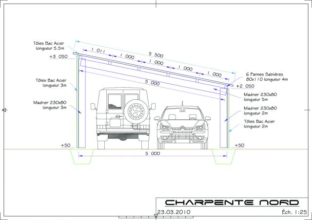 Prestation de service faire des plans - Exemple de plan de garage ...