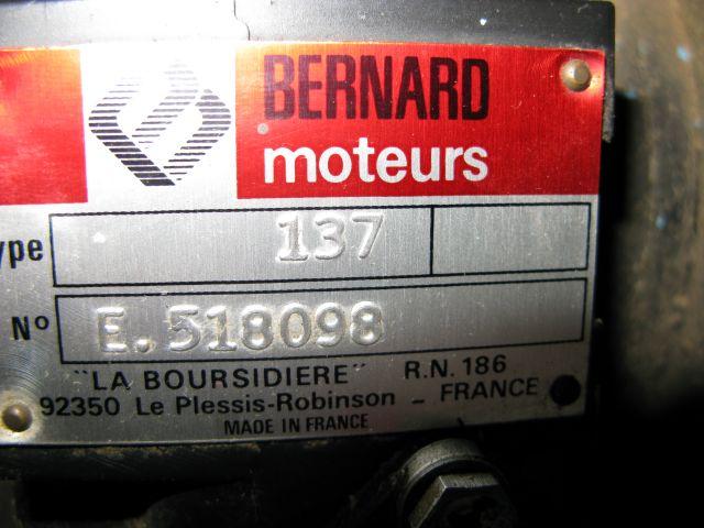 moteur bernard 217 puissance