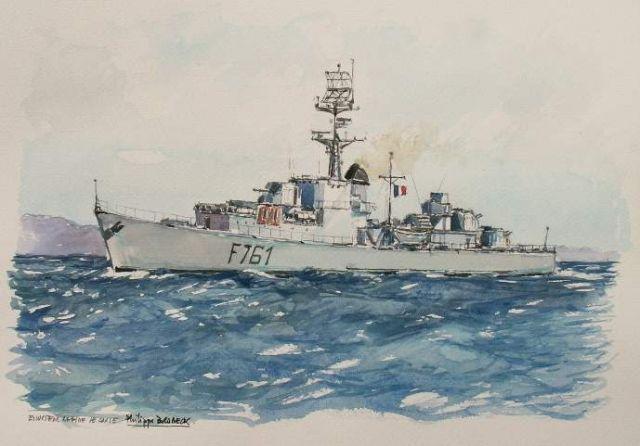 Les escorteurs rapides peints par philippe Brobeck peintre  20.11