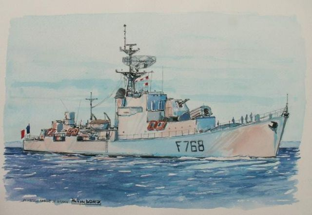 Les escorteurs rapides peints par philippe Brobeck peintre  20.31