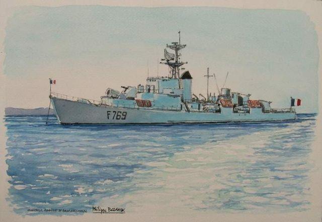 Les escorteurs rapides peints par philippe Brobeck peintre  20.32