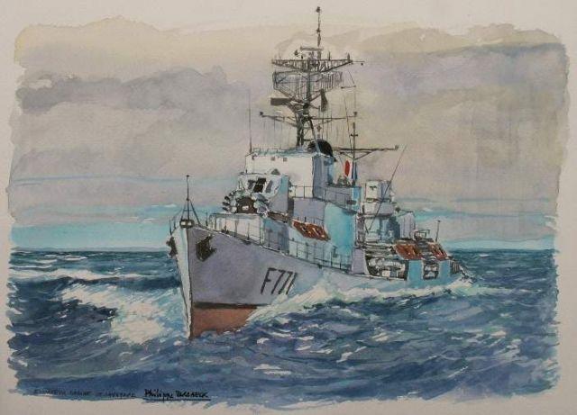 Les escorteurs rapides peints par philippe Brobeck peintre  20.36