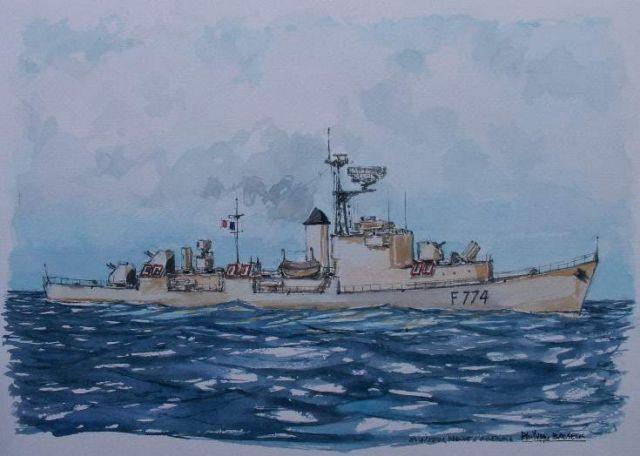 Les escorteurs rapides peints par philippe Brobeck peintre  20.40