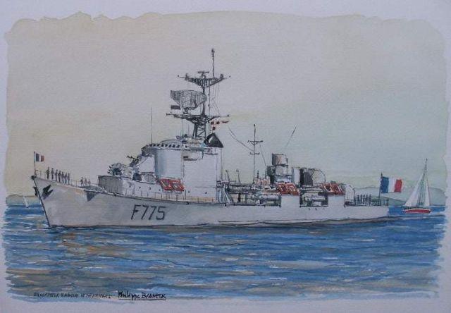 Les escorteurs rapides peints par philippe Brobeck peintre  20.41