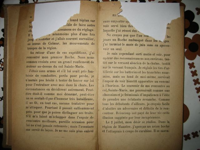 "LIVRE ""MES COMBATS"" de René FONCK 19.277"