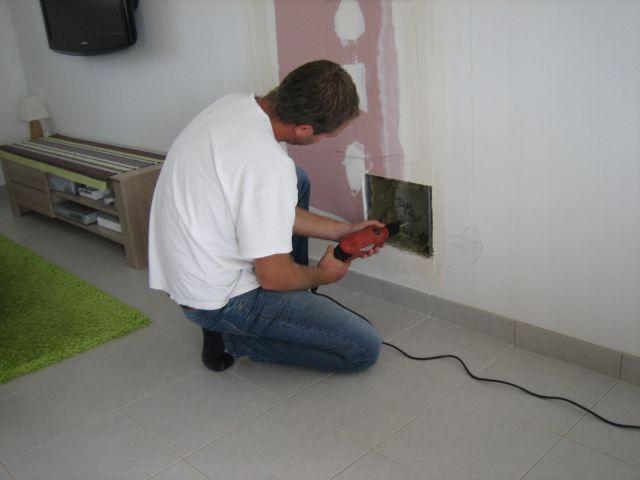 Reportage d 39 installation d 39 un foyer ferme 47 messages - Installer une cheminee dans une maison ...