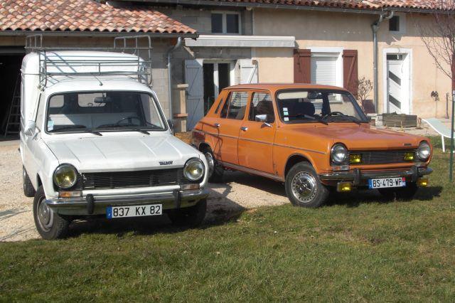 Les voitures de Phoz Simca 1100 ES  1977- 1100 VF2 1983 12.66
