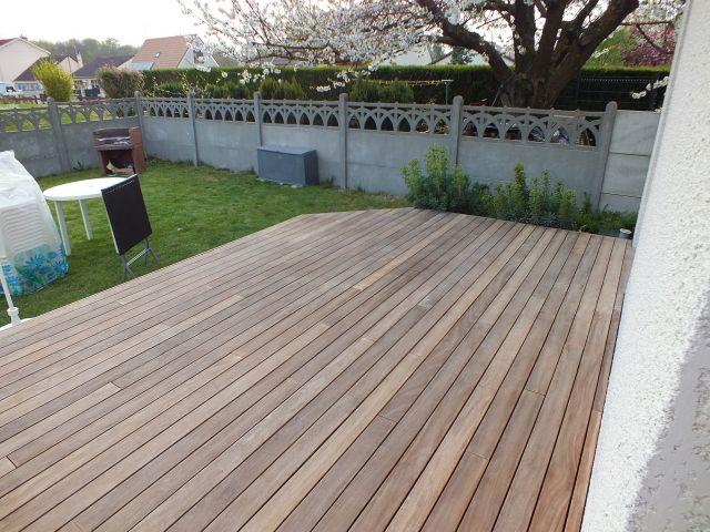 Rattraper une terrasse en bois après passage au nettoyeur haute ()