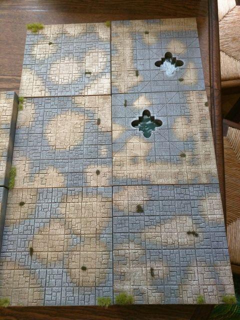 Plaques gravées et peintes pour plateau de jeu 10.34