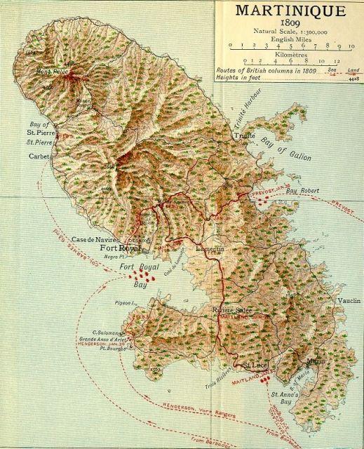 1809 Les Anglois débarquent en force à la Martinique 11.14