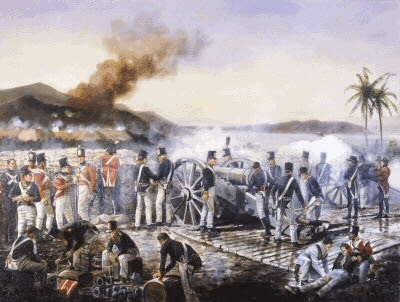 1809 Les Anglois débarquent en force à la Martinique 11.25
